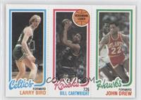 Larry Bird, Bill Cartwright, John Drew