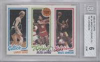 Larry Bird, Julius Erving, Magic Johnson [BGS 6]