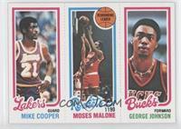 Michael Cooper, Moses Malone, George Johnson