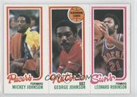 Leonard Robinson, Mickey Johnson, George Johnson