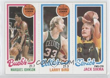 1980-81 Topps #MJLBJS - Marques Johnson, Larry Bird, Jack Sikma