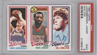 Mark Landsberger, Bob Lanier, Bill Walton [PSA 9]