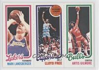 Mark Landsberger, Artis Gilmore, World B. Free
