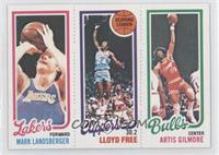 Mark Landsberger, Artis Gilmore, World B. Free