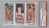 Moses Malone, Kevin Grevey [PSA9]