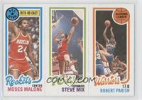 Moses Malone, Steve Mix, Robert Parish