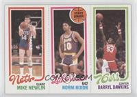 Mike Newlin, Norm Nixon, Darryl Dawkins