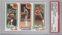 Phil Ford, Adrian Dantley, Eddie Johnson [PSA 9]