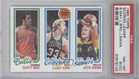 Scott May, Larry Bird, Jack Sikma [PSA 8 (OC)]