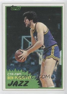 1981-82 Topps #105W - Ben Poquette