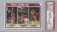 Julius Erving, Bobby Jones, Maurice Cheeks [PSA 8]