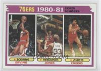 Team Leaders - Julius Erving, Bobby Jones, Maurice Cheeks