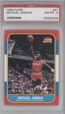 1986-87 Fleer - [Base] #57 - Michael Jordan [PSA8]