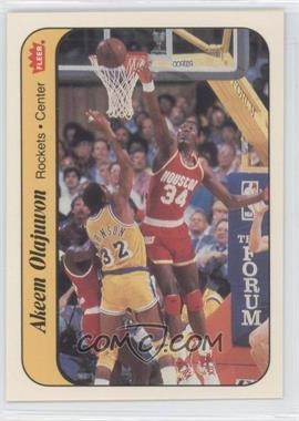 1986-87 Fleer - Stickers #9 - Hakeem Olajuwon