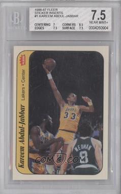 1986-87 Fleer Stickers #1 - Kareem Abdul-Jabbar [BGS7.5]