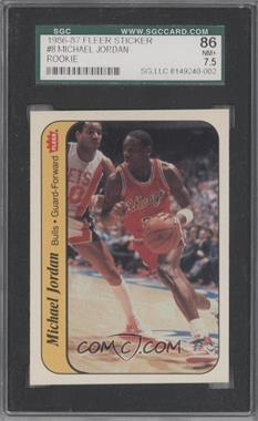 1986-87 Fleer Stickers #8 - Michael Jordan [SGC 86]