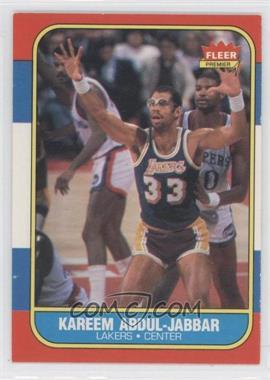 1986-87 Fleer #1 - Kareem Abdul-Jabbar