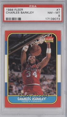 1986-87 Fleer #7 - Charles Barkley [PSA 8]