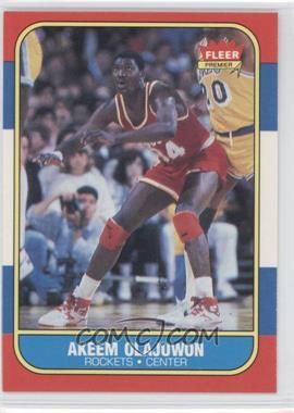 1986-87 Fleer #82 - Akeem Olajuwon
