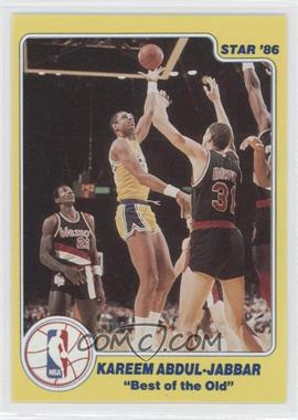 1986 Star Best of the New/Best of the Old #N/A - Kareem Abdul-Jabbar