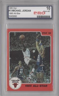 1986 Star Michael Jordan - [Base] #5 - Michael Jordan [ENCASED]