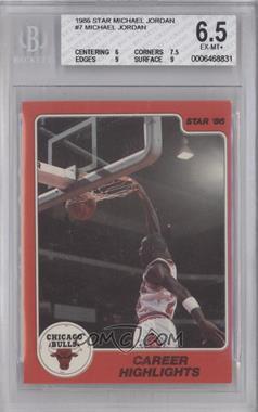 1986 Star Michael Jordan - [Base] #7 - Michael Jordan [BGS6.5]