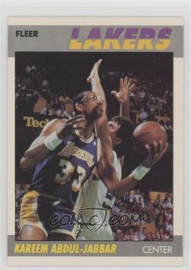 1987-88 Fleer - [Base] #1 - Kareem Abdul-Jabbar