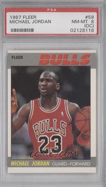 1987-88 Fleer - [Base] #59 - Michael Jordan [PSA8(OC)]