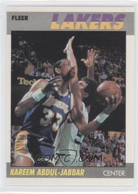 1987-88 Fleer #1 - Kareem Abdul-Jabbar