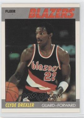 1987-88 Fleer #30 - Clyde Drexler