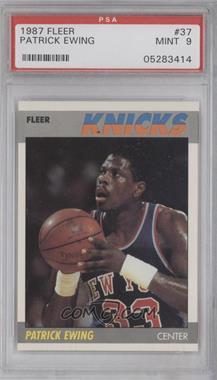 1987-88 Fleer #37 - Patrick Ewing [PSA9]