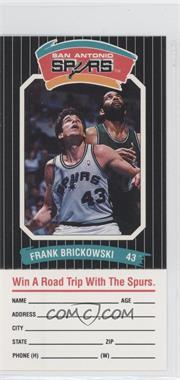 1988-89 Diamond Shamrock San Antonio Spurs - [Base] #FRBR - Frank Brickowski