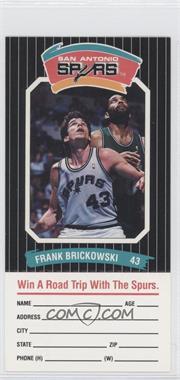 1988-89 Diamond Shamrock San Antonio Spurs #FRBR - Frank Brickowski
