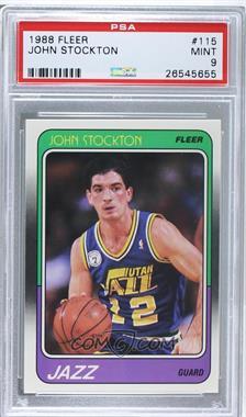 1988-89 Fleer - [Base] #115 - John Stockton [PSA9]