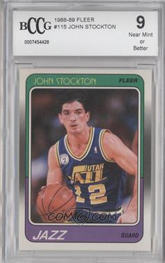 1988-89 Fleer - [Base] #115 - John Stockton [ENCASED]