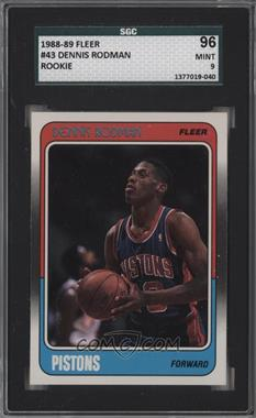 1988-89 Fleer - [Base] #43 - Dennis Rodman [SGC 96]