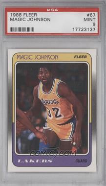 1988-89 Fleer - [Base] #67 - Magic Johnson [PSA9]