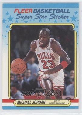 1988-89 Fleer Super Star Sticker #7 - Michael Jordan