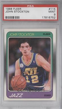 1988-89 Fleer #115 - John Stockton [PSA 9]