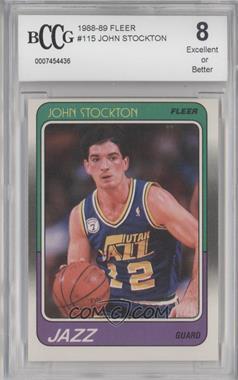 1988-89 Fleer #115 - John Stockton [ENCASED]