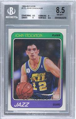 1988-89 Fleer #115 - John Stockton [BGS8.5]