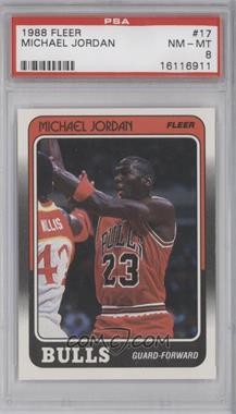 1988-89 Fleer #17 - Michael Jordan [PSA8]