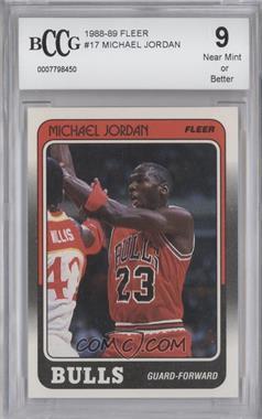 1988-89 Fleer #17 - Michael Jordan [ENCASED]