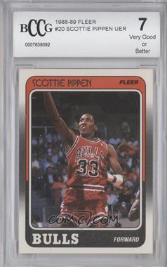 1988-89 Fleer #20 - Scottie Pippen [ENCASED]