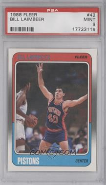 1988-89 Fleer #42 - Bill Laimbeer [PSA 9]