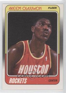 1988-89 Fleer #53 - Akeem Olajuwon