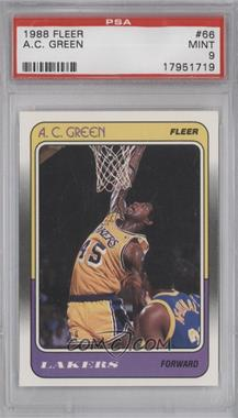 1988-89 Fleer #66 - A.C. Green [PSA9]