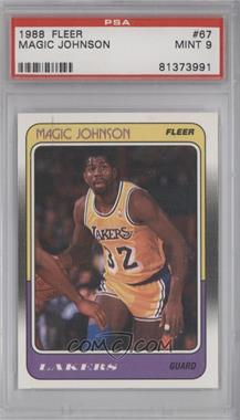 1988-89 Fleer #67 - Magic Johnson [PSA 9]