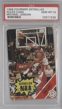 1988 Fournier Estrellas #NoN - Michael Jordan (Rules Card) [PSA 10]