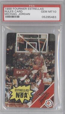 1988 Fournier Estrellas #NoN - Michael Jordan (Rules Card) [PSA10]